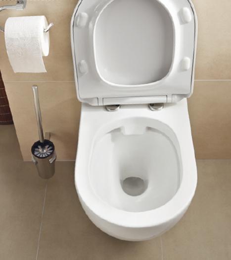 Bauhaus-Toilette-offen