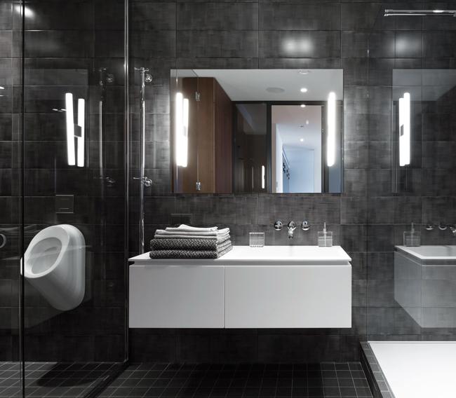 Black-and-white-Badezimmer