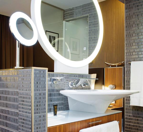 Hotelzimmer-Waschtisch