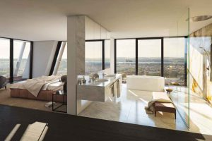 V Tower in Prag: Exklusives Bad mit Aussicht